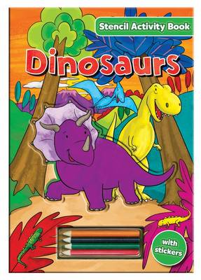 Stencil Activity Book - Dinosaurs by