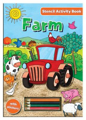 Activity Stencil Books - Farm Colouring & Activity by North Parade Publishing