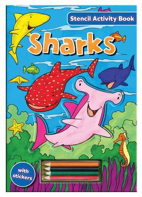 Stencil Activity Book - Sharks by