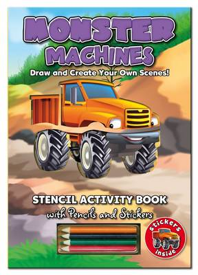 Stencil Activity Book - Monster Machines by