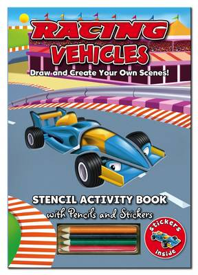 Activity Stencil Books - Racing Cars Colouring & Activity by North Parade Publishing