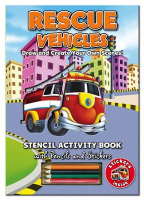 Stencil Activity Book - Rescue Vehicles by