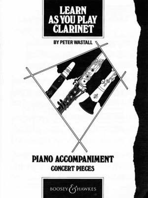Learn as You Play Clarinet Piano Accompaniment by Peter Wastall