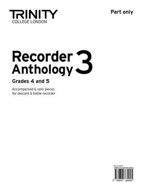 Recorder Anthology (Grades 4-5) Part Only by Trinity College London