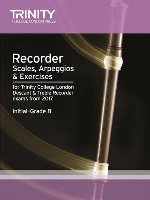 Recorder Scales, Arpeggios & Exercises Initial Grade 8 from 2017 by