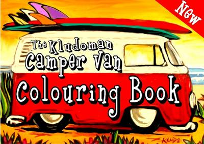 The Kludoman Camper Van Colouring Book by Kludo White