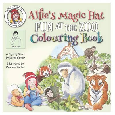 Alfie's Magic Hat Fun at the Zoo Colouring Book by Kathy Carter