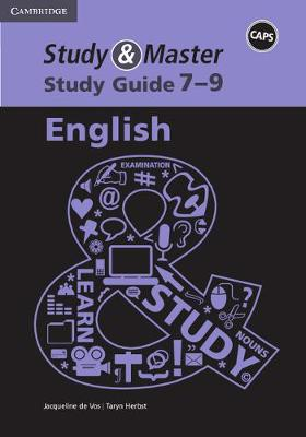 Study and Master English Senior Phase Caps Study Guide by Jacqueline de Vos, Taryn Herbst