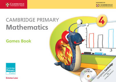 Cambridge Primary Mathematics Stage 4 Games Book with CD-ROM by Emma Low, Mary Wood