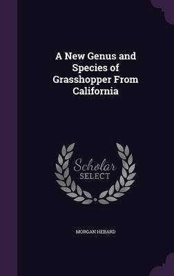 A New Genus and Species of Grasshopper from California by Morgan Hebard