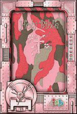 Compact Kids Bible Pink Camo by Thomas Nelson