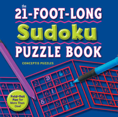 21-foot-long Sudoku Puzzle Book Fold-out Fun for More Than One! by Conceptis Puzzles