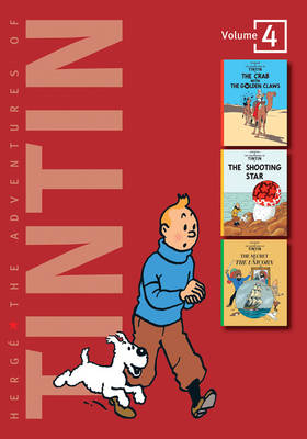 The Adventures of Tintin The Crab with the Golden Claws , The Shooting Star , The Secret of the Unicorn by Herge
