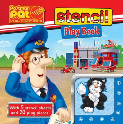 Postman Pat Stencil Play Book by