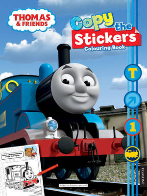 Thomas & Friends Copy the Sticker Colouring Book by