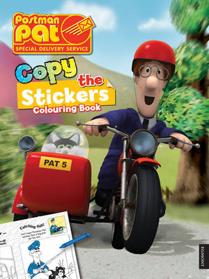 Postman Pat Copy the Sticker Colouring Book by