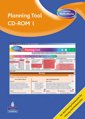 Longman MathsWorks: Year 1 Planning Tool CD-ROM Revised Version by Tony Cotton