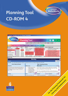 Longman MathsWorks: Year 4 Planning Tool CD-ROM Revised Version by Tony Cotton