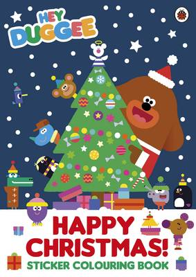 Hey Duggee: Happy Christmas! Sticker Colouring Book by