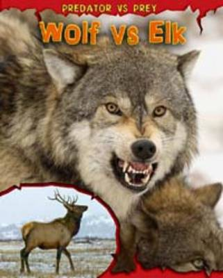 Wolf Vs Elk by Mary Meinking