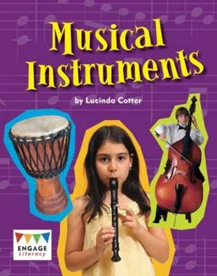 Musical Instruments Pack of 6 by Lucinda Cotter