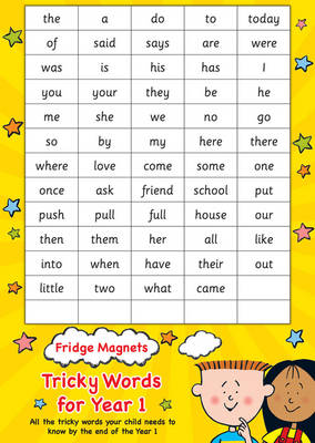 Fridge Magnets Tricky Words for Year 1 by Scholastic
