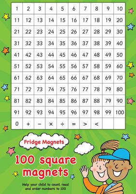 Fridge Magnets - 100 Square Maths Magnets by Scholastic