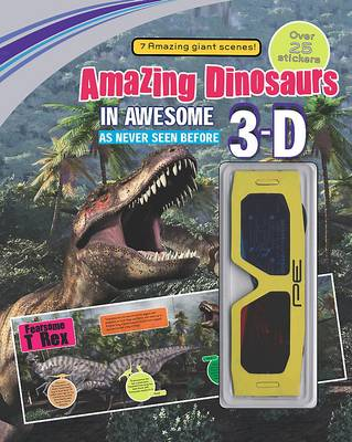 3d Sticker Scene Amazing Dinosaurs by