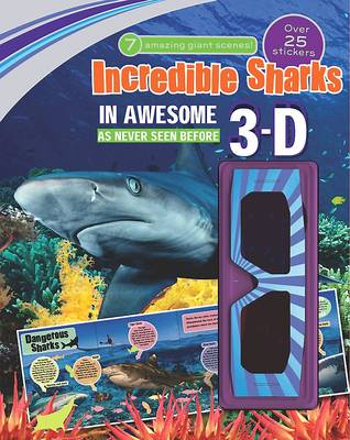 3d Sticker Scene Incredible Sharks by