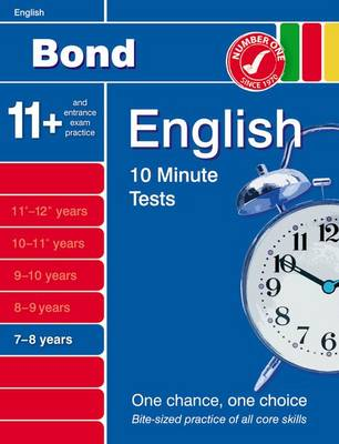 Bond 10 Minute Tests English 7-8 Years by Sarah Lindsay