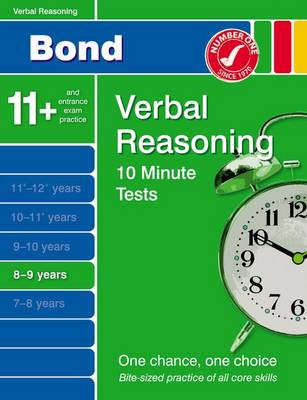 Bond 10 Minute Tests Verbal Reasoning 8-9 Years by Frances Down