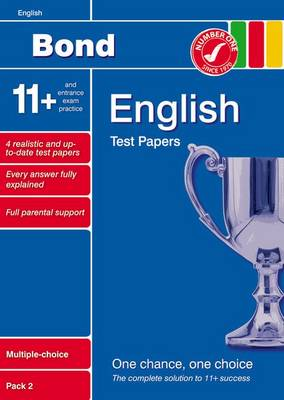 Bond 11+ Test Papers English Multiple Choice Pack 2 by Sarah Lindsay