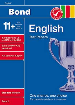 Bond 11+ Test Papers English Standard Pack 2 by Sarah Lindsay