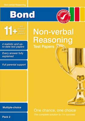 Bond 11+ Test Papers Non-Verbal Reasoning Multiple Choice Pack 2 by Alison Primrose