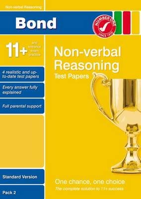 Bond 11+ Test Papers Non-Verbal Reasoning Standard Pack 2 by Alison Primrose