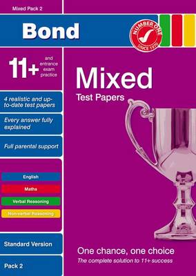 Bond 11+ Test Papers Mixed Pack 2 Standard by Frances Down, Alison Primrose, Sarah Lindsay