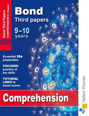 Bond Comprehension Third Papers 9-10 Years by Michellejoy Hughes