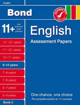 Bond English Assessment Papers 9-10 Years Book 2 by Sarah Lindsay