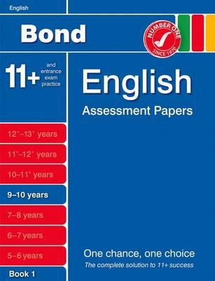 Bond English Assessment Papers 9-10 Years Book 1 by J. M. Bond, Sarah Lindsay