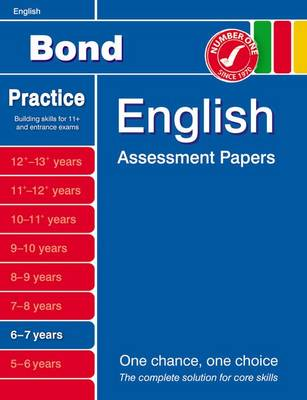 Bond English Assessment Papers 6-7 Years by Sarah Lindsay