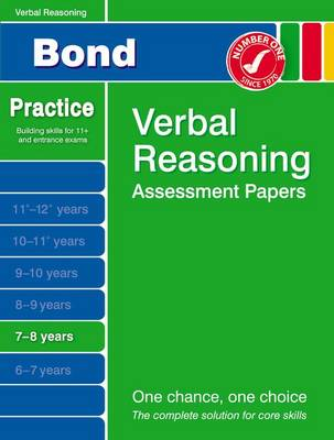 Bond Verbal Reasoning Assessment Papers 7-8 Years by Andrew Baines
