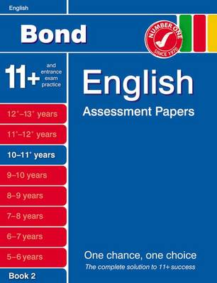 Bond English Assessment Papers 10-11+ Years Book 2 by Sarah Lindsay