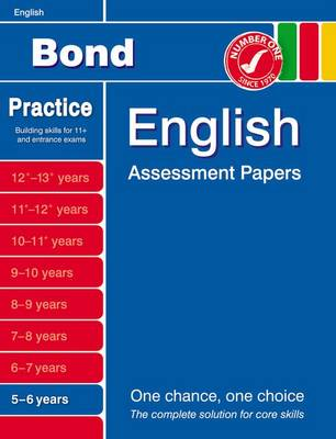 Bond English Assessment Papers 5-6 Years by Sarah Lindsay