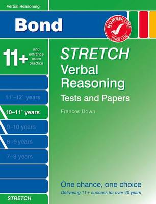 Bond Stretch Verbal Reasoning Tests and Papers 10-11+ Years by