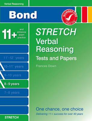 Bond Stretch Verbal Reasoning Tests and Papers 8-9 Years by
