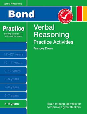 Bond Practice Verbal Reasoning Practice Activities 5-6 Years by