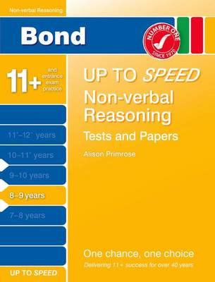 Bond Up to Speed Non-Verbal Reasoning Tests and Papers 8-9 Years by
