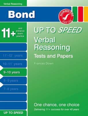 Bond Up to Speed Verbal Reasoning Tests and Papers 9-10 Years by