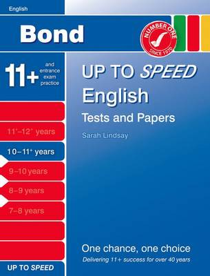Bond Up to Speed English Tests and Papers 10-11+ Years by