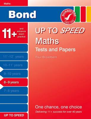 Bond Up to Speed Maths Tests and Papers 8-9 Years by